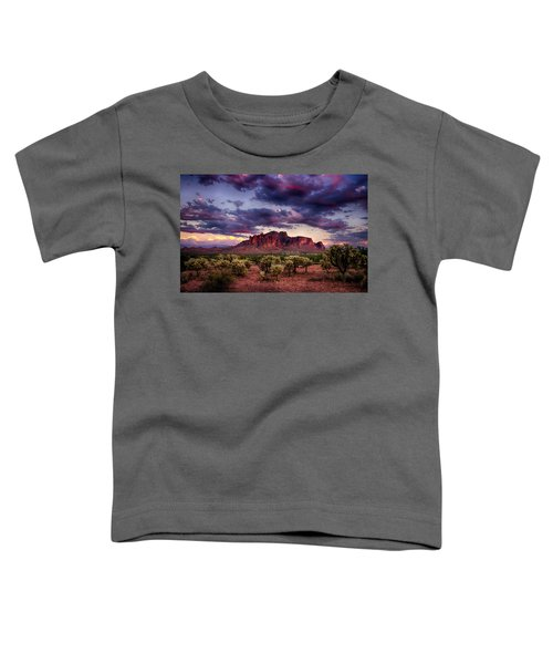 Sunset At The Superstitions  Toddler T-Shirt