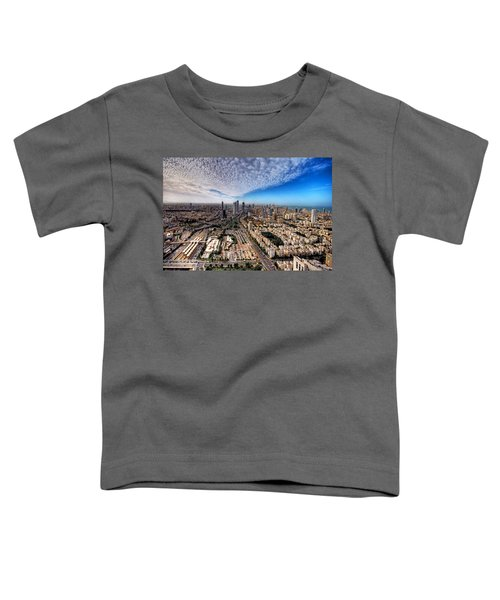 Tel Aviv Skyline Toddler T-Shirt