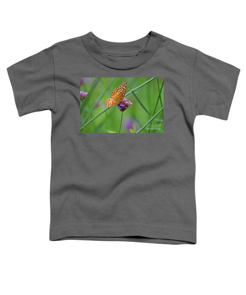 Variegated Fritillary Butterfly In Field Toddler T-Shirt