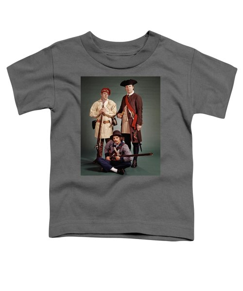 1700s 1776 Colonial Militiamen Toddler T-Shirt