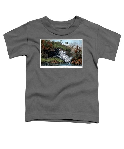 1860s Two Spaniel Dogs Flushing Toddler T-Shirt