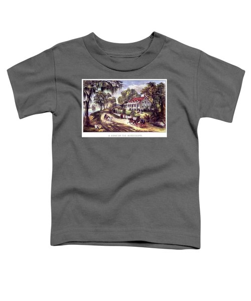 1870s 1800s A Home On The Mississippi - Toddler T-Shirt