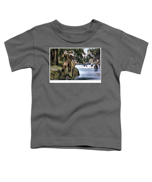 1870s Brook Trout Fishing - Currier & Toddler T-Shirt