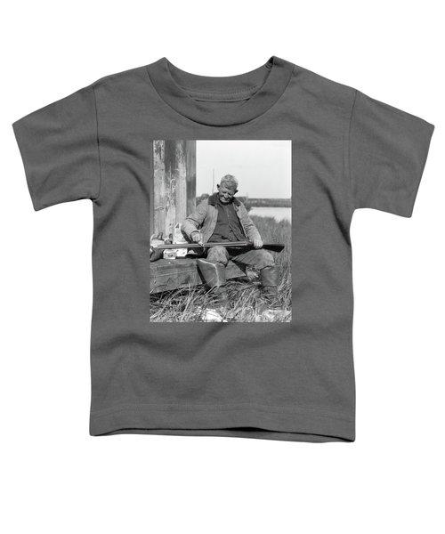 1920s 1930s Senior Man Sitting On Bench Toddler T-Shirt