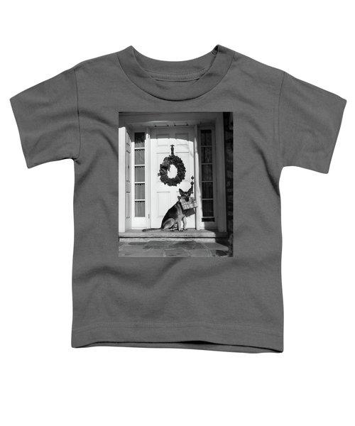 1930s German Shepherd Dog Sitting Front Toddler T-Shirt