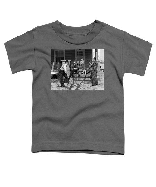 1930s Three Men Courting A Women Toddler T-Shirt