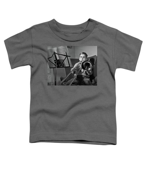 1950s Funny Cross-eyed Boy Playing Toddler T-Shirt