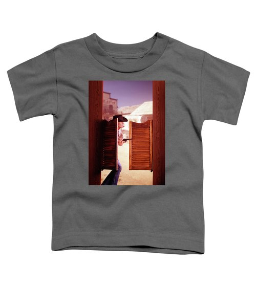1960s 1970s Western Cowboy With Pistol Toddler T-Shirt
