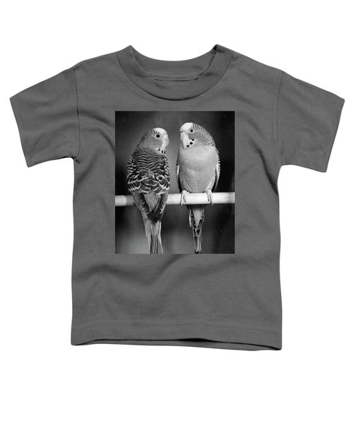 1960s Pair Of Parakeets Perched Toddler T-Shirt