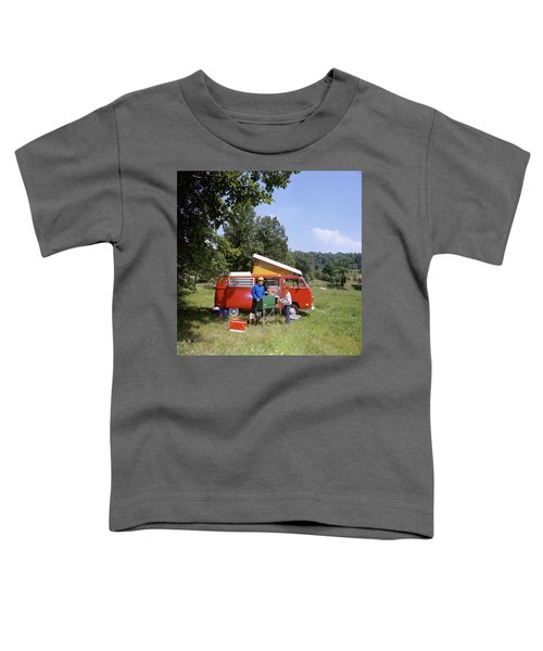1970s Father And Son Cooking Toddler T-Shirt