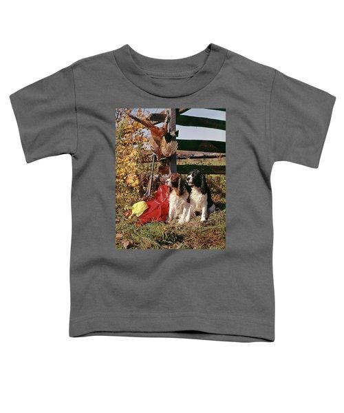 1970s Two Springer Spaniel Dogs Toddler T-Shirt