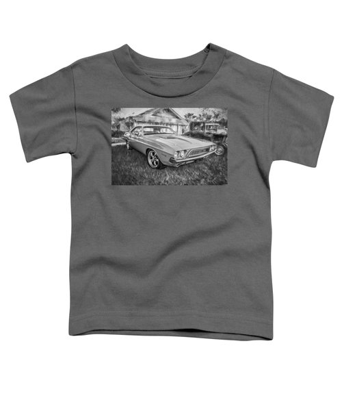 1972 Dodge 340 Challenger Painted Bw   Toddler T-Shirt
