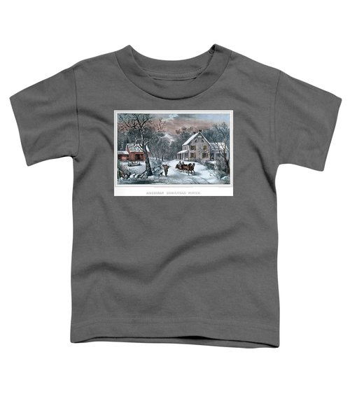 1980s American Homestead Winter - Toddler T-Shirt