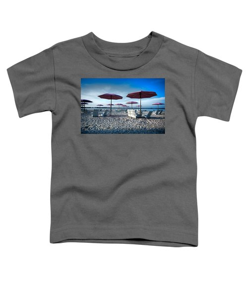 Umbrellas On The Beach Toddler T-Shirt