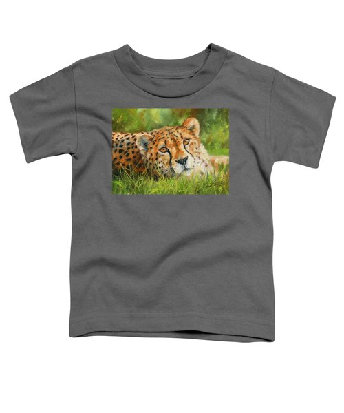 Cheetah Toddler T-Shirt by David Stribbling