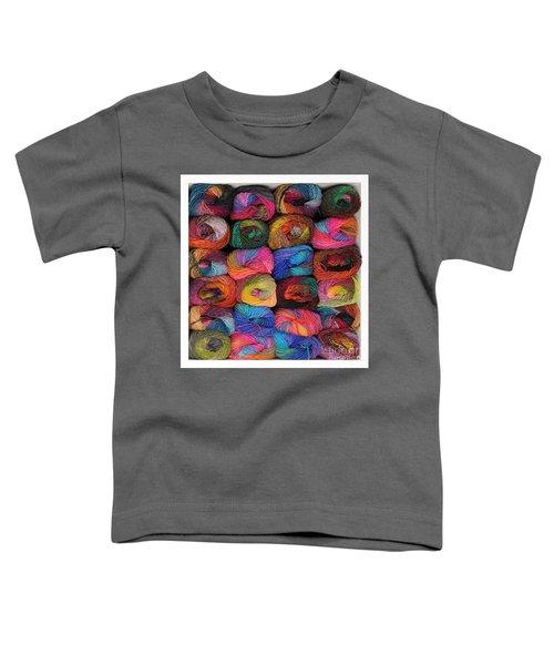 Colorful Knitting Yarn Toddler T-Shirt