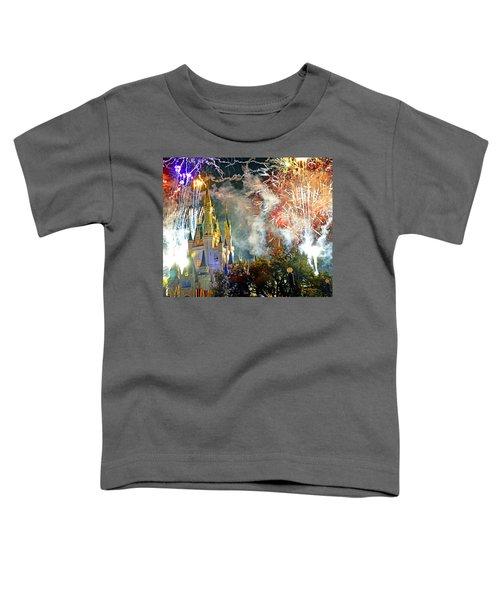 Fireworks Cinderellas Castle Walt Disney World Toddler T-Shirt