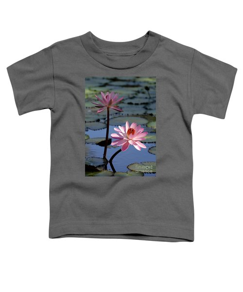 Pink Water Lily In The Spotlight Toddler T-Shirt