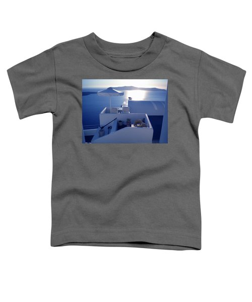 Toddler T-Shirt featuring the photograph Santorini Island Greece by Colette V Hera  Guggenheim