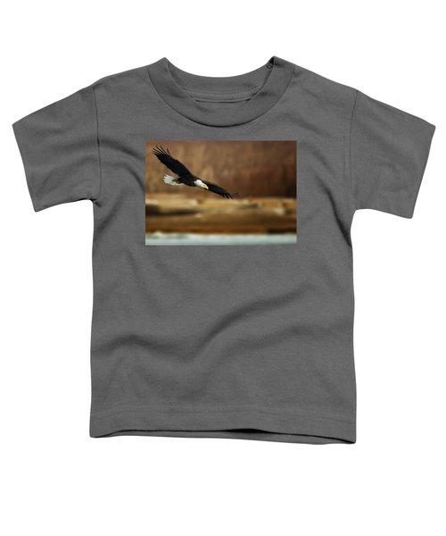 Soaring Bald Eagle Toddler T-Shirt