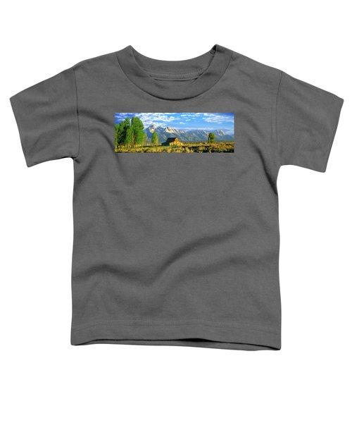Sunrise Over The Moulton Barn Toddler T-Shirt