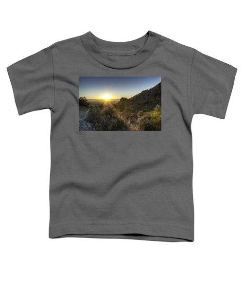 Winter Sunset Toddler T-Shirt by Lynn Geoffroy