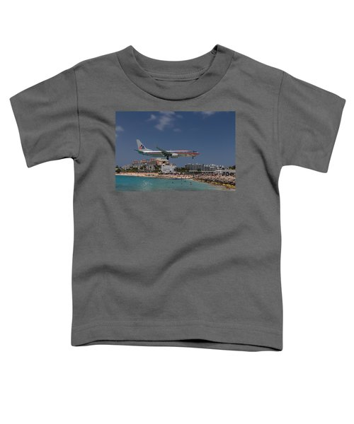 American Airlines At St. Maarten  Toddler T-Shirt
