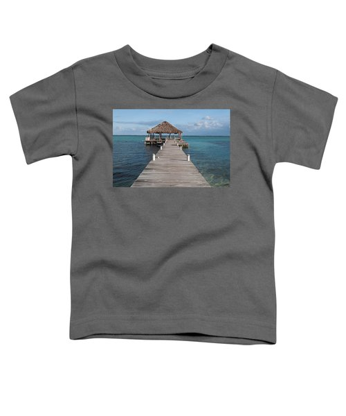 Beach Deck With Palapa Floating In The Water Toddler T-Shirt