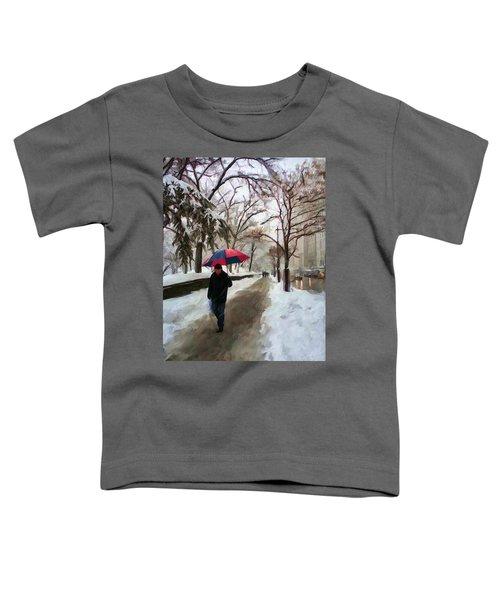 Snowfall In Central Park Toddler T-Shirt