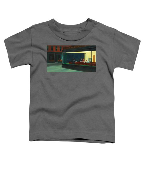 Toddler T-Shirt featuring the painting Nighthawks by Edward Hopper