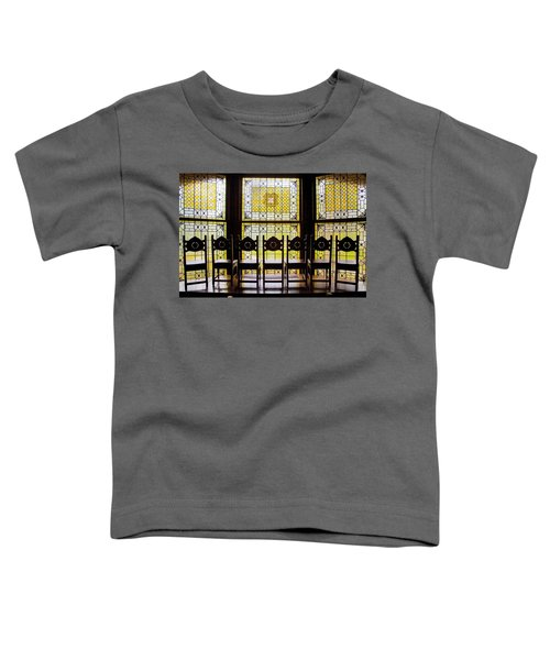 7 Chairs And Stained Glass Toddler T-Shirt