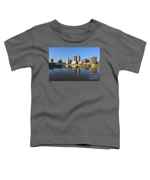 Fx1l-1058 Columbus Ohio Skyline Photo Toddler T-Shirt