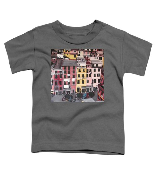 A Bird's Eye View Of Cinque Terre Toddler T-Shirt