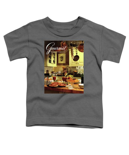 A Buffet Brunch Party Toddler T-Shirt by Romulo Yanes
