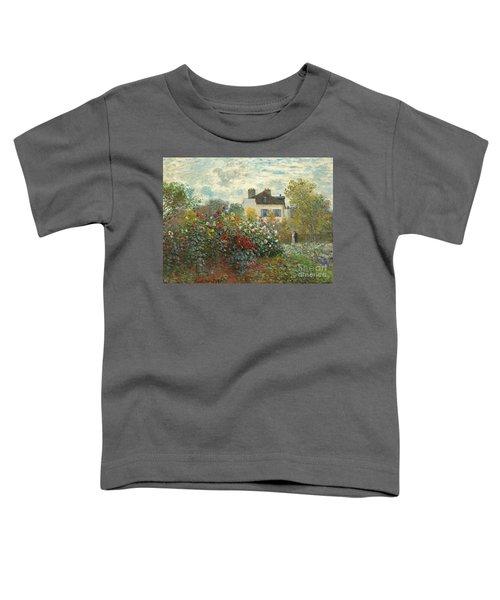 A Corner Of The Garden With Dahlias Toddler T-Shirt