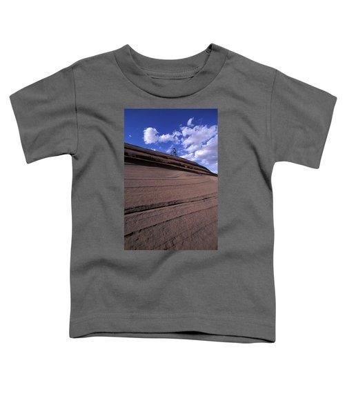 A Female Mountain Biker Mountain Biking Toddler T-Shirt