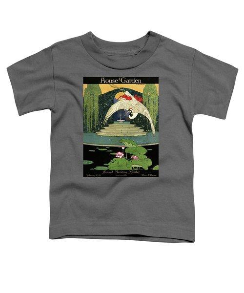 A House And Garden Cover A Bird Over A Pond Toddler T-Shirt