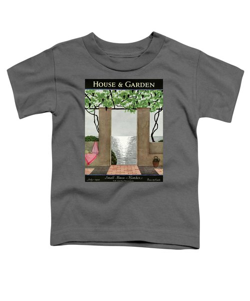 A House And Garden Cover Of A Seaside Patio Toddler T-Shirt