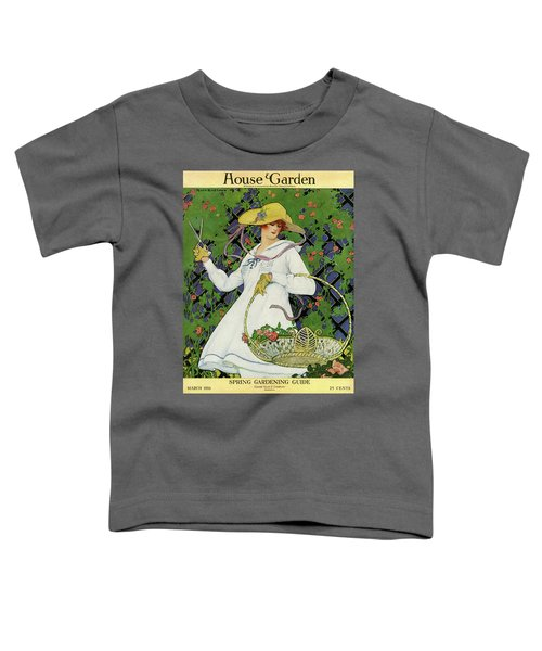 A House And Garden Cover Of A Woman Gardening Toddler T-Shirt