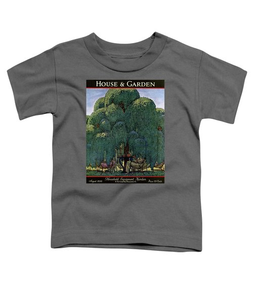 A House And Garden Cover Of People Dining Toddler T-Shirt