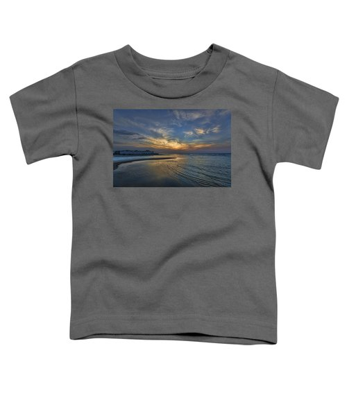 a joyful sunset at Tel Aviv port Toddler T-Shirt