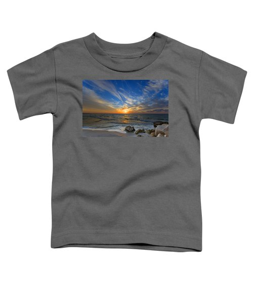 A Majestic Sunset At The Port Toddler T-Shirt