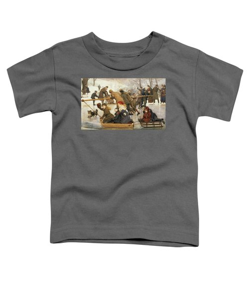 A Merry Go Round On The Ice, 1888 Toddler T-Shirt