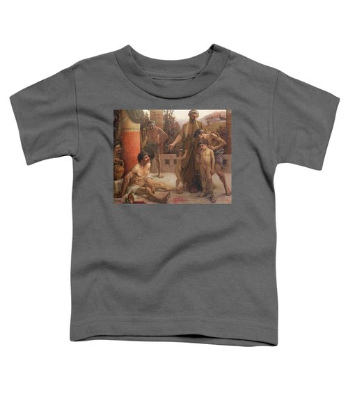 A Spartan Points Out A Drunken Slave To His Sons Toddler T-Shirt