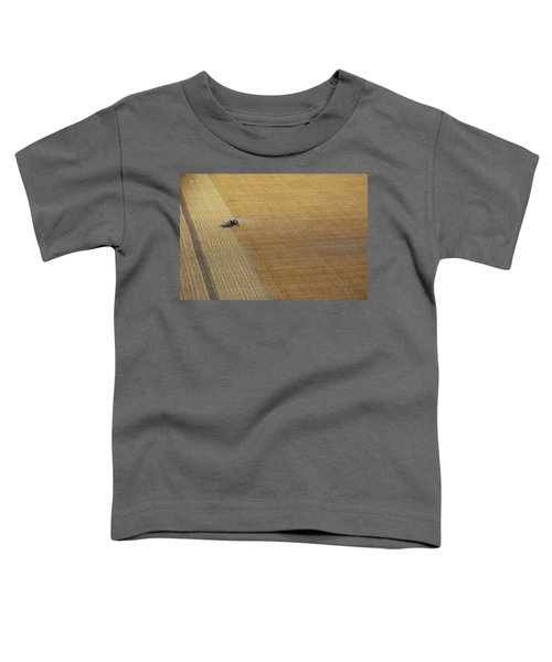 A Tractor Harvesting Photo Toddler T-Shirt