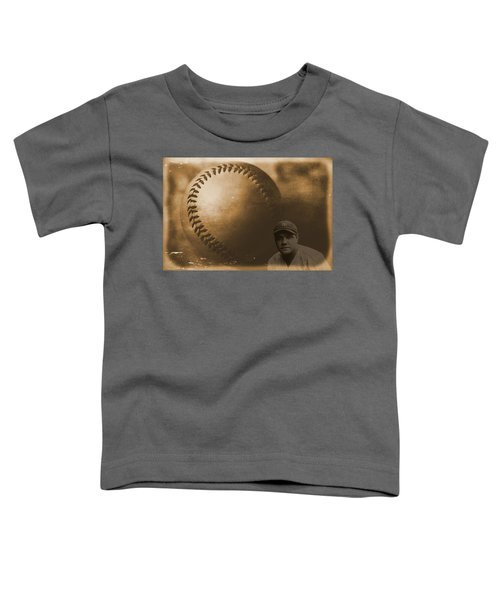 A Tribute To Babe Ruth And Baseball Toddler T-Shirt by Dan Sproul