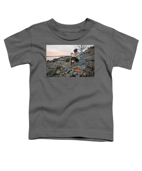 A Woman Takes A Cell Phone Picture Toddler T-Shirt
