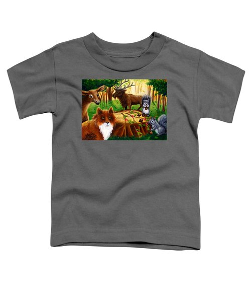 A Woodland Thanksgiving Toddler T-Shirt