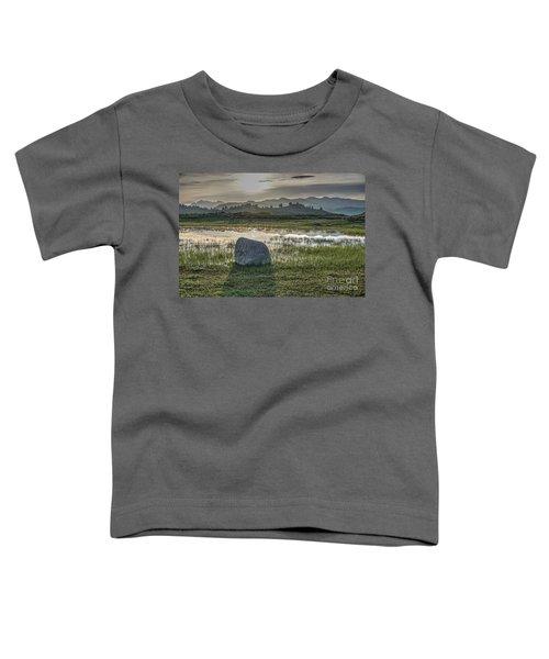 A Yellowstone Sunrise And Hazy Morning Ridges Toddler T-Shirt