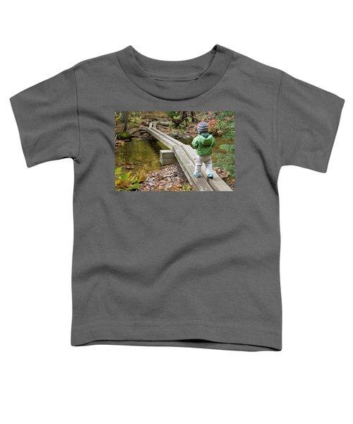 A Young Girl Walks Across Hiking Toddler T-Shirt